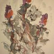 Study Of Flowers Y Poster