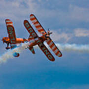 Stunt Biplanes With Wingwalkers Poster