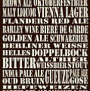 Styles Of Beer Poster