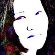 Stylized Woman's Portrait Poster