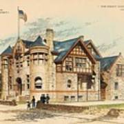 Sub Police Station. Chestnut Hill Pa. 1892 Poster