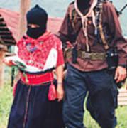 Subcommandante Marcos And Ramona Poster