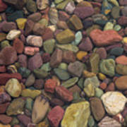 Submerged Lake Stones Poster