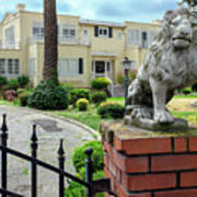 Suburban Antique House With Lion Hayward California 22 Poster