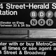 Subway 34 Street Poster