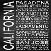 Subway California State 2 Square Poster