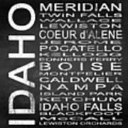 Subway Idaho State Square Poster