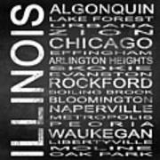 Subway Illinois State Square Poster