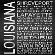 Subway Louisiana State Square Poster