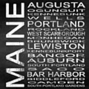 Subway Maine State Square Poster