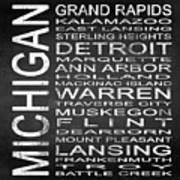 Subway Michigan State Square Poster