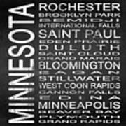 Subway Minnesota State Square Poster