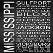 Subway Mississippi State Square Poster