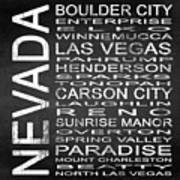 Subway Nevada State Square Poster