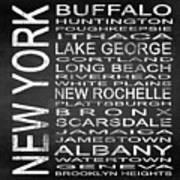 Subway New York State Square Poster