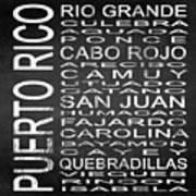 Subway Puerto Rico Square Poster