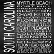 Subway South Carolina State Square Poster