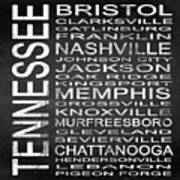 Subway Tennessee State Square Poster