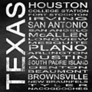 Subway Texas State Square Poster