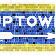 Subway Tile Sign Uptown Poster