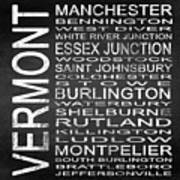 Subway Vermont State Square Poster