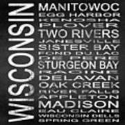 Subway Wisconsin State Square Poster