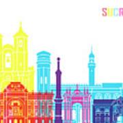 Sucre Skyline Pop Poster