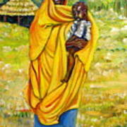 Sudanese Mother And Child Poster