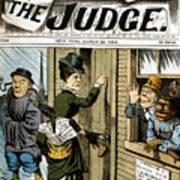 Suffrage Cartoon, 1884 Poster