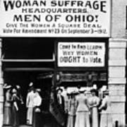 Suffrage Headquarters Poster