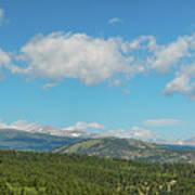 Sugar Magnolia Summer Rocky Mountain Peaks Panorama View Poster