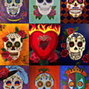Sugar Skull Collage Poster