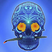 Sugar Skull Poster by Nelson Dedos Garcia