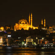 Suleymaniye At Night Poster