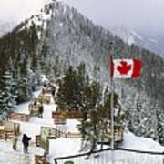Sulphur Mountain In Banff National Park In The Canadian Rocky Mountains Poster