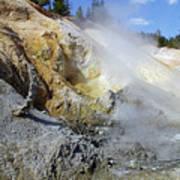 Sulphur Works - Lassen Volcanic National Park Poster by Christine Till