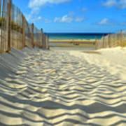 Sultry September Beach Poster