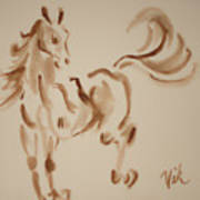 Sumi Horse Poster