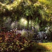 Summer - Landscape - Eve's Garden Poster by Mike Savad