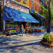 Summer Afternoon, Columbus Avenue Poster