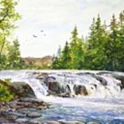 Summer At Buttermilk Falls Poster