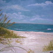 Summer Beach And Sea Grasses Poster