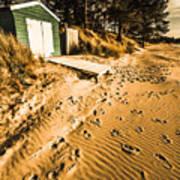 Summer Beach Shacks Poster