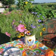 Summer Breakfast In The Garden Poster
