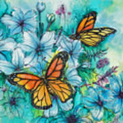 Summer Butterflies Poster