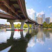 Summer Day At Lady Bird Lake In Austin Texas 1 Poster