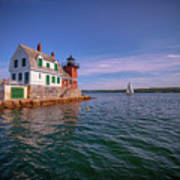 Summer Day At Rockland Breakwater Poster