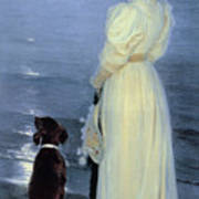 Summer Evening At Skagen Poster