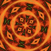 10697 Summer Fire Mask 54 Kaleidoscope 2 Poster
