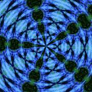 10716 Summer Fire Mask 54 Kaleidoscope 5 Poster